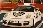 Aparca el coche de policía