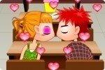 Besos en clase