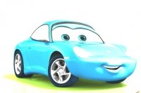 Colorea a Sally de Cars 2