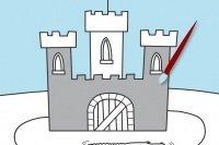 Colorea el castillo