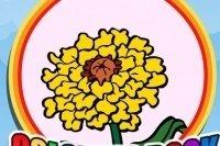 Colorea las flores