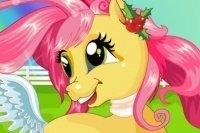Cuidar de la linda pony