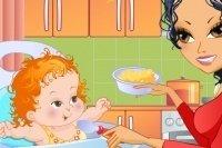 Dale de comer al bebé