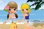Dos hermanas en la playa