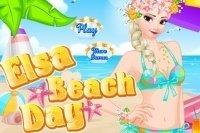 Elsa en la playa
