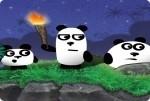 Los tres pandas