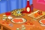 Recoge la fiesta de la pizza