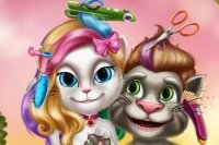 Talking Tom y Angela Kapper