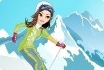 Viste a la niña para esquiar